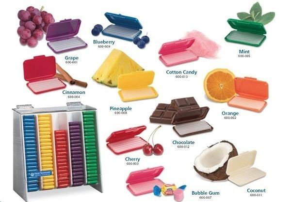 Trên thị trường có rất nhiều loại sáp nha khoa với mùi thơm khác nhau