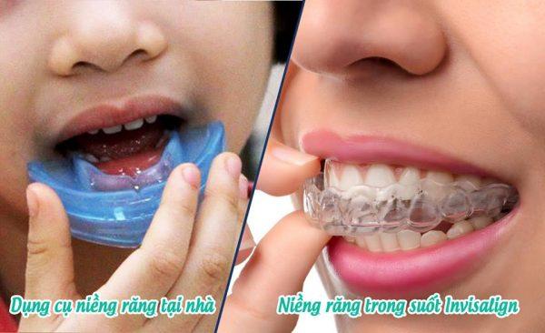 Dụng cụ niềng răng tại nhà và niềng răng trong suốt Invisalign có hình thức khá giống nhau